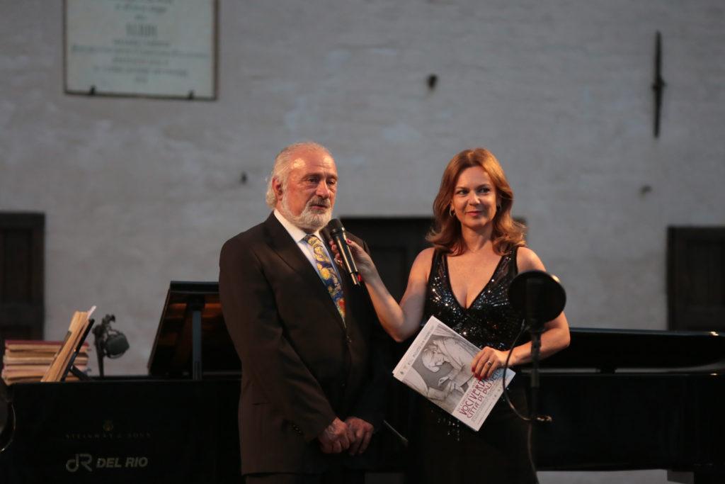 55 Concorso Internazionale Giovani Voci Verdiane, il Presidente Giancarlo Contini e Ilaria Notari